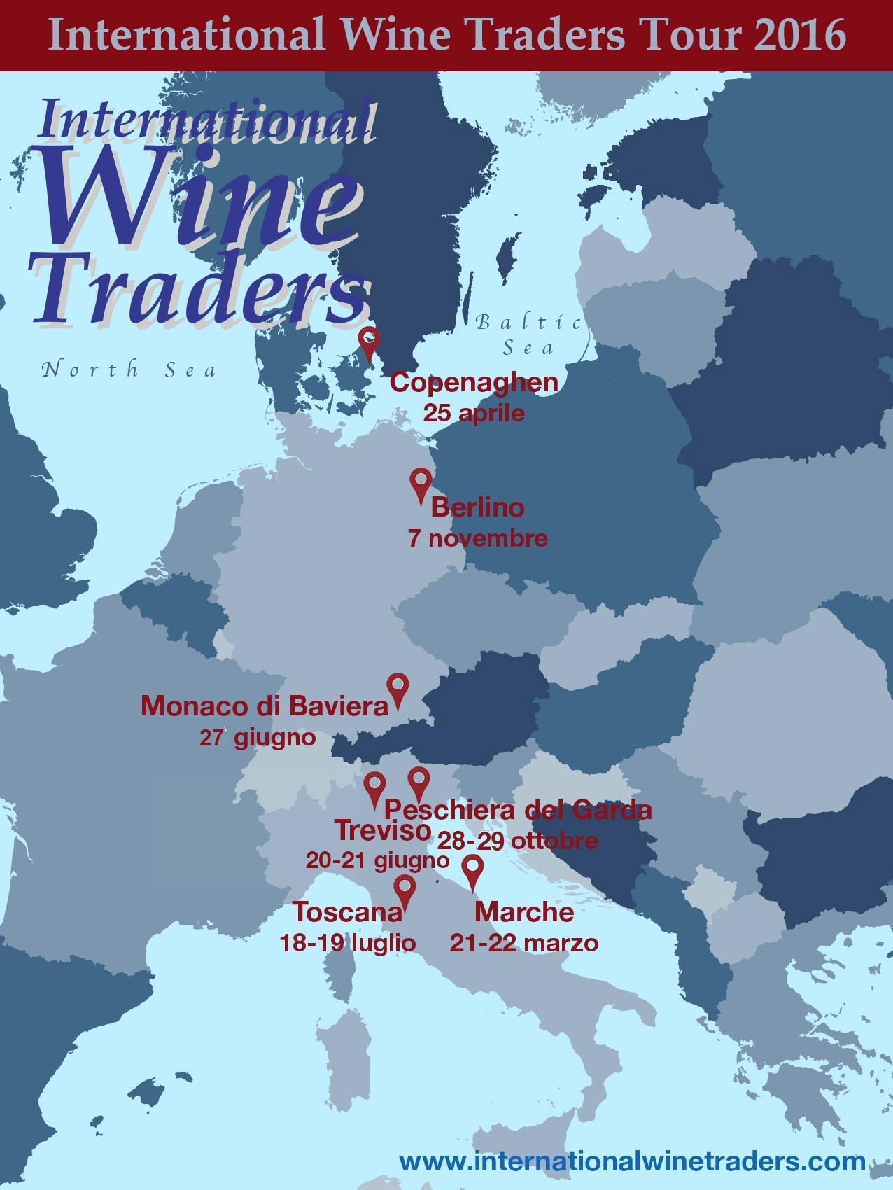 Calendario Tour International Wine Traders 2016